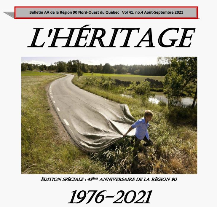 Le bulletin régional «L'Héritage»